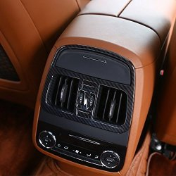 Carbon Fiber Abs Plastic Rear Air Conditioning Outlet Vent Frame Cover Trim For Maserati Levante 2016