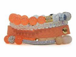 Erimish 4 Piece Bracelet Stack Orange
