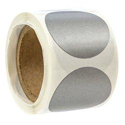 "Sblabels Silver 1"" Round Circle Scratch-off Stickers - Pack Of 100 Diy Quarter Round Scratch Offs"