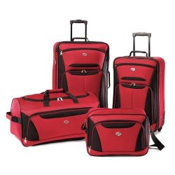 American Tourister Luggage Fieldbrook II 4 Piece Set Red black One Size