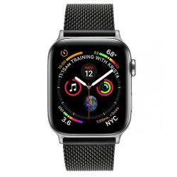 Colton James Mesh Strap For Silver 44MM Apple Watch - Black