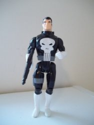 Toy Biz Marvel Super Heroes The Punisher Cap Firing Weapons Action Figure 4.75 Inches