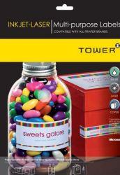 Tower W103 Multi Purpose Inkjet-laser Labels - Box Of 1000 Sheets