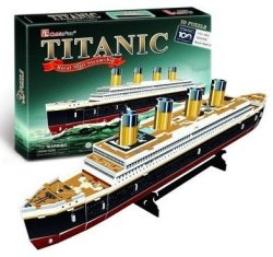 Cubic Fun Small Titanic - 35 Piece 3D Puzzle