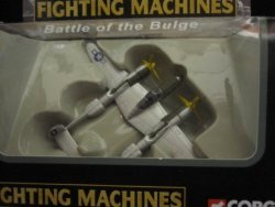 P-38 Lightning Battle Of The Bulge Us Army Air Corps Corgi Fighting Machines Series With Display Stand