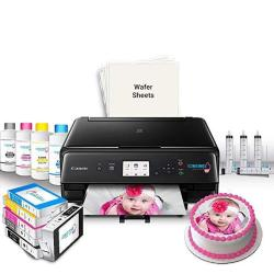 Icinginks Edible Printer Bundle System Includes Canon Wireless Edible Ink Printer Set Of 5 Edible Ink Cartridges 50 Edible Wafer