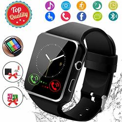 SMART WATCH Bluetooth Smartwatch Touch Screen Wrist Watch With Camera sim Card Slot Waterproof Sports Fitness Tracker Android Phone Watch Compatible With Android