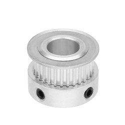 Uxcell Aluminum Mxl 30 Teeth 10MM Bore Timing Belt Pulley Synchronous Wheel Silver Tone For 6MM Belt 3D Printer Cnc