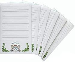 USA O'day Irish Coat Of Arms Notepads - Set Of 6