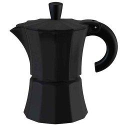 Gnali & Zani V210N-6 Morosina Stovetop Espresso Maker Aluminum Measures - 6 Cup