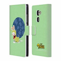 Official Rabbids Snail Costumes Leather Book Wallet Case Cover Compatible For Huawei Mate S