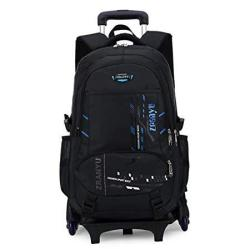 Rolling Backpack Yub Trolley Schoolbag Boy And Girl Wheels Bags Rolling Backpacks For Kids Blue