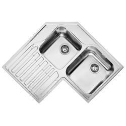 Kitchen Sink Corner 2square Bowls 1drainer Franke Strx621 Left Ss 830cmx830cm R Sinks Pricecheck Sa