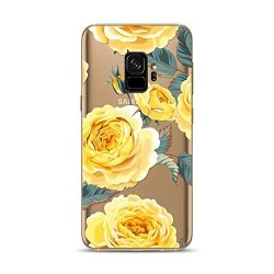 Samsung Galaxy S9 Case Blingy's New Flower Style Transparent Clear Soft Tpu Protective Rubber Case For Samsung Galaxy S9 Yellow