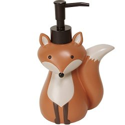 Mainstays Kid's Lotion Or Soap Dispenser Pump Woodland Creature Fox Animal For Kitchen Bathroom Or Baby Nursery