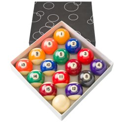 EASI8 2IN Numbered Pool Ball Set & White Ball
