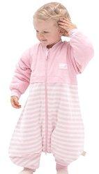 OuYun Baby Early Walker Sleeping Bag With Feet Detachable Sleeve Wearable Blanket Spring&autumn Pink Medium