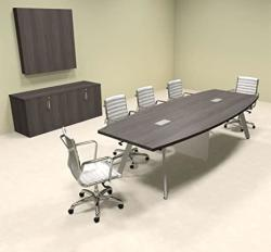 Modern Boat Shaped 10' Feet Conference Table OF-CON-CV14