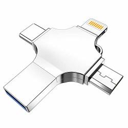USB Flash Drive For Iphone Dulees USB 3.0 64GB Iphone Photo Stick Lightning External Memory Storage For Iphone Ipad Macbook Pro Android PC Backup