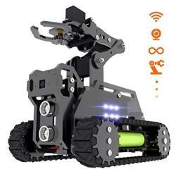 Adeept Rasptank Wifi Wireless Smart Robot Car Kit For Raspberry Pi 3 Model B+ B 2B Tank Tracked Robot With 4-DOF Robotic Arm Ope