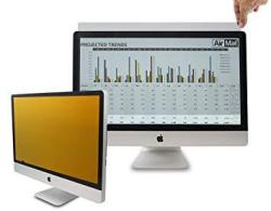 26 Inch Gold Privacy Screen Filter For Widescreen Computer Monitor 16:10 Aspect Ratio . Premium Anti Glare Anti Blue Light Protector Film For Data Co