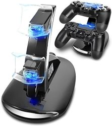 Musou Dual USB Charging Charger Docking Station Stand For Playstation 4 PS4 PS4 Pro PS4 Slim Controller