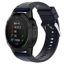 MoreToys Garmin Fenix 5X Watch Band Silicone Sports Wrist Band Replacement Accessory Straps Bracelet For Garmin Fenix 5X Smart W