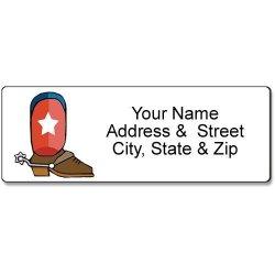 Kersten Enterprises, LLC Texas Address Label - Customized Return Address Label - 90 Cowboy Boot Labels