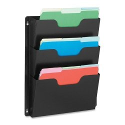 Triple Wall Pocket 14-1 2 Quot X1 Quot -2-1 2 Quot X17-1 2 Quot Black
