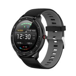 Z06 Fashion Smart Sports Watch 1.3 Inch Full Touch Screen 5 Dials Change IP67 Waterproof Support Heart Rate Blood Pressure Monitoring Sleep Monitoring Sedentary Reminder Black Grey
