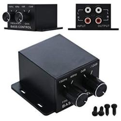 Nobsound Auto Car Amplifier Audio Subwoofer Bass Control Knob Sub Gain  Equalizer Regulator Frequency Controller Rca Line Level A   R767 00    Handheld