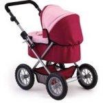 Bayer Trendy Doll's Pram - Pink & Red