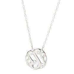 """The Silver Heron 's' Monogram NECKLACE.925 Sterling Silver 16"""" + 2"""" Extender"""