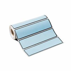 """Carstens Self-adhesive Labels For 1.5"""" - 4"""" Ring Binder Spines - 5 3 8"""" X 1 3 8"""" Sky Blue Roll Of 200"""