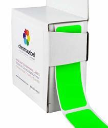 Chromalabel 1 X 3 Inch Permanent Color-code Rectangle Labels 100 DISPENSER Box Fluorescent Green