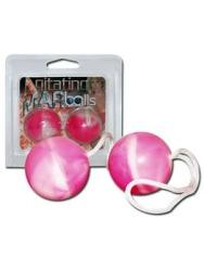 Agitating Duo Kegel Balls in Pink