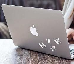 Doctor Who Silence Tally Mark Laptop Keyboard Die-cut Vinyl Decal Sticker White 4.75 Inch Long
