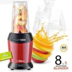 Milex NUTRI1200 8-IN-1 Nutritional Blender in Red