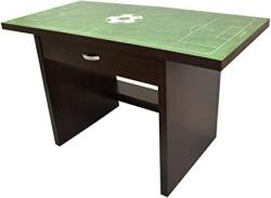 Little Partners Kids Soccer Fan Desk Activity Play Table With Sports-themed Graphics For Playroom Daycare Preschool Durable Wood Construction With Drawer