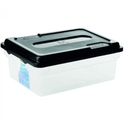Addis 11l Clear Storage Box With Black Lid