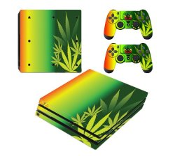 SKIN-NIT Decal Skin For PS4 Pro: Rasta Weed