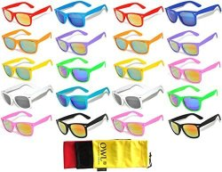OWL 20 Pieces Per Case Whole Lot Glasses Assorted Colored Frame Bulk Sunglasses Mirror Lens Party Glasses Supplier