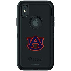 Fan Brander Ncaa Black Phone Case With School Logo Compatible With Apple Iphone Xr And With Otterbox Defender Series Auburn Tigers