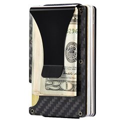 Carbon Tossun Fiber Credit Card Holder For Men Women Card Clamps Business Card Clip Wallet Travel Minimalist Money MINI Card Case Wallets Dark Gray