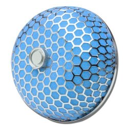 3 Inches Inlet X 4 Inches Air Intake Mushroom Style Hexagon Mesh Air Filter Blue
