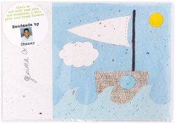 Growing Paper Postcard - Boat