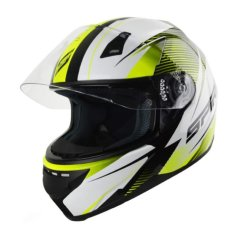 Spirit Tyro Wide Angle View Motorcycle Helmet With Cover - Yellow