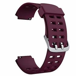 Smart Watch Bands Soft Silicone Replacement Bands For Willful Smart Watch Purple