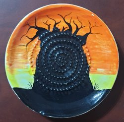 Boabab Sunset African Grater Plate