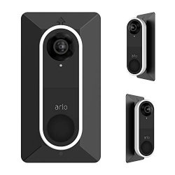 WALL Holaca Plate Come With L35 R35 Wedge For Arlo Video Doorbell Compatible With Arlo Doorbell Plastic Material Adjustment Mounting Plate Wedge Kit Black